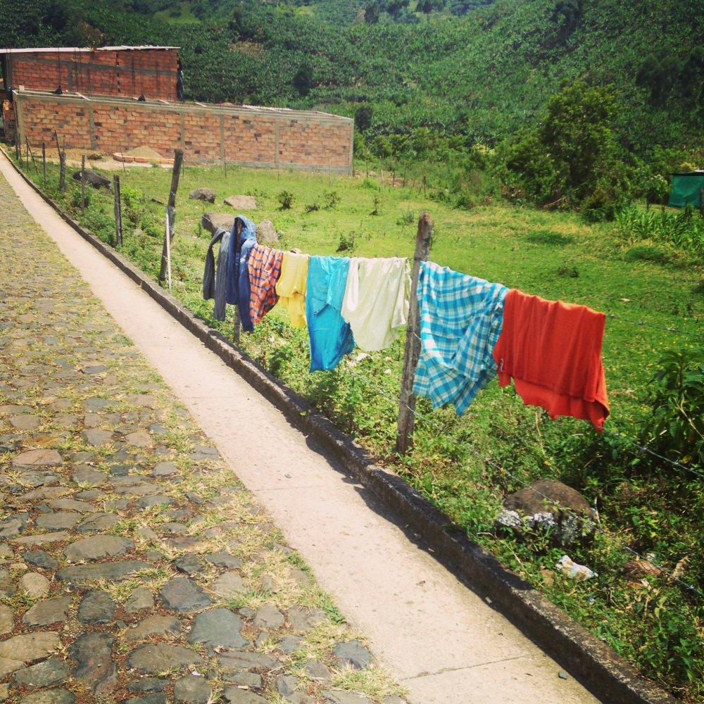 Laundry in Jardin, Colombia