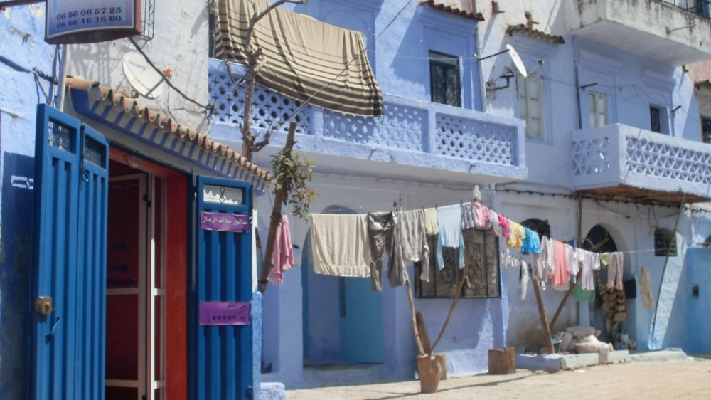 Laundry in Chefchaouen, Morocco (everything in Chef is gorgeous)